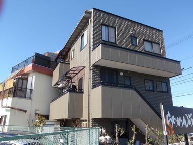 シリコン外壁塗装 3階建住宅[浜松市南区の加藤塗装]|屋根塗装