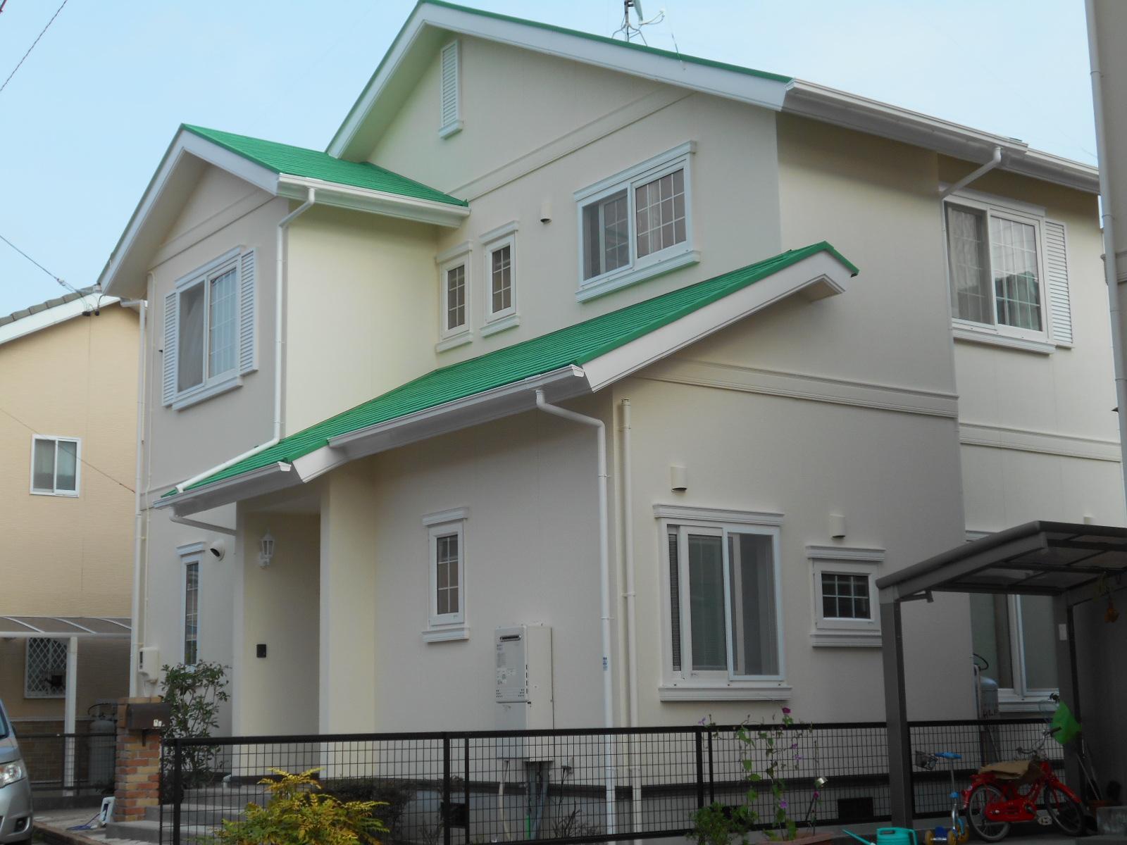 防カビ防藻効果のある家[浜松市南区の加藤塗装] 外壁塗装、屋根塗装